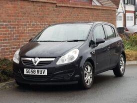 Vauxhall Corsa CDTI Breeza (2008/58 Reg) + NEW SHAPE + 5 DOOR + BLACK + DIESEL + BREEZE MODEL +