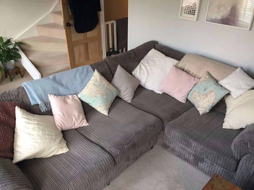Large Grey Corner Sofa £350 ono