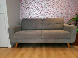 Grey Fabric Sofas 3+2