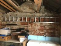 Aluminium Extendable Long 20' (3.5m) Ladder with ladder stay
