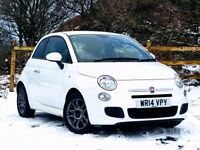 Beautiful White 2014 Fiat 500 S 1.2 3DR. Priced low for quick sale