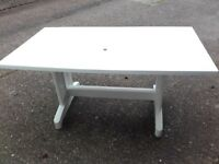 Hartman white plastic folding table
