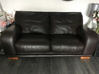 Leather sofas 4 & 2 seater