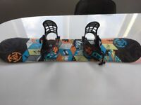 Kids k2 snowboard bindings and boots