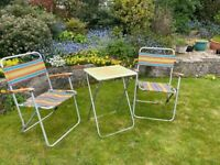Retro/Vintage Folding Camping Seat and Table Set