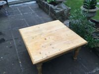 Vintage pine coffee table