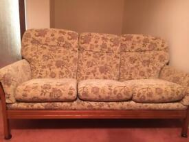 Cintique Vermont three seater sofa and two matching armchairs