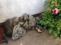 Assorted stone for pond or rockery