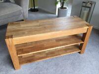 TV Unit Solid Oak Table