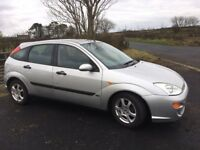 2001 Ford Focus Zetec Mot'd 24th August, Usual Extras, Great Driver