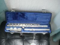 Hardly used, like brand new. Selmer USA flute with hard case