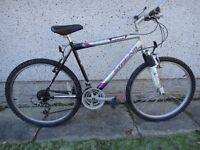 Saxon slipstream Bike 26 inch wheels, 21 gears, 20 inch frame, front suspension