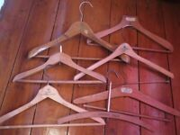 Used, Lot x7 good condition vintage advertising wooden coathangers-for your vintage gear? for sale  Eynsham, Oxfordshire