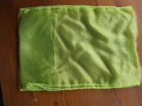 Green organza chair sashes