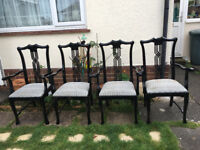 A set of 4 Lovely Dining Carvers Chairs