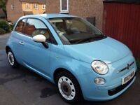 FIAT 500 2013 1.2 BLUE LOW MILEAGE CHEAP TAX STOP START TWO OWNERS FROM NEW