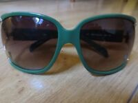 Ladies Kate Spade Forest Green Sunglasses with Gold Sides From the Kate Spade Store in NYC - Used