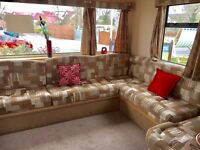 Beautiful spacious caravan to let in trecco bay for elvis festival (sleeps 8)