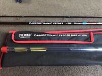 Mint Silstar Carbodynamic Feeder Rod 300M 10' with 3 Tips and Bag