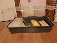 Large cage guinea pig with accessories