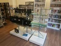 2 x BHS Shop Glass / Acrylic Units