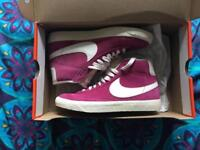 Nike Blazers, Magenta, UK women's size 4
