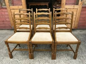 6 Dining Chairs Ladder Backs - Delivery Available