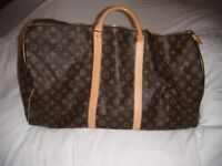 Genuine Louis Vuitton Holdall 60cmL x 30cmH x 28cmW in excellent condition hardly used