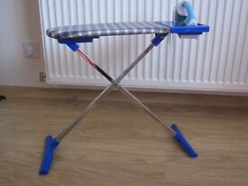 Child play ironing and iron board