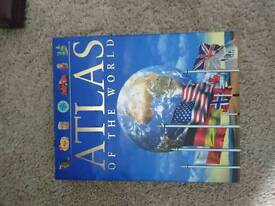 Atlas of the world educational book