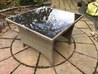 Genuine Rattan Garden Conservatory Furniture Outdoor Patio Table BNIB Brand New