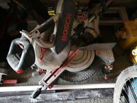 Bosch table saw and Bosch chop saw