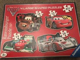 Cars 2 4 Large Shaped Puzzles