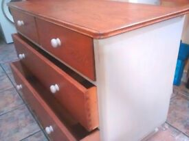Chest of Drawers Dressing Table Dresser Vintage Shabby Chic
