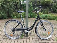 Classic Black City Bike - 5 months used - really comfy - with locker