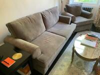 Willow & Hall 3 seater sofa bed and armchair set