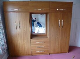 TWO DOUBLE WARDROBES AND DRAWS