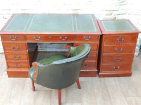 Yew Directors captains chesterfield office set (Delivery)