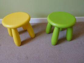 Two's children's stool's (IKEA MAMMUT)