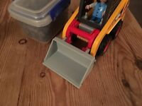 Playmobil 4477 digger , bulldozer toy in vgc