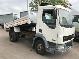 2006 daf 45 150 7500 kg drop side tipper