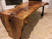 Yew Waterfall Edge Coffee Table