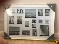 Large white collage picture/photo frame - New