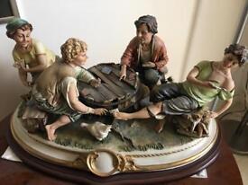 Very Rare Capo Di Monte figurine, large Capodimonte Porcelain Figurine - The Cheats