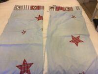 Laura Ashley boys blue curtains with stars