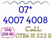 Brand New Mobile Sim Card Unused Gold Easy Memorable Number - 07* 4007 4008 - £29.99 - * Cheap *