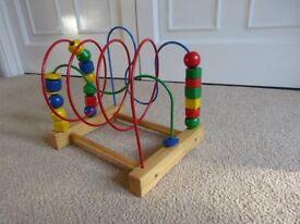 Pre-school wooden bead frame