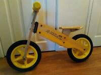 balance wooden bike
