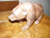 a hand carved black forest/bavarian bear figure 1930s/50s