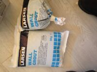 White wall and floor grout - 8kg